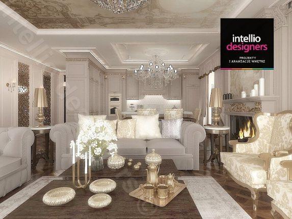 Aranżacja apartamentu w Krakowie autorstwa Intellio designers - luksus i wykwintność w każdym calu